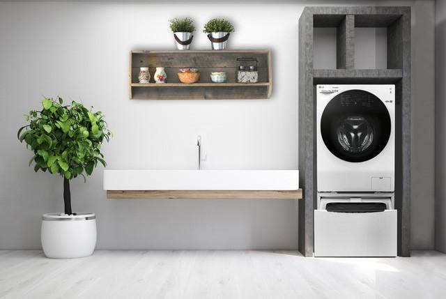 Thiết kế góc giặt sấy siêu tiện lợi cho nhà đông người - Ảnh 2.