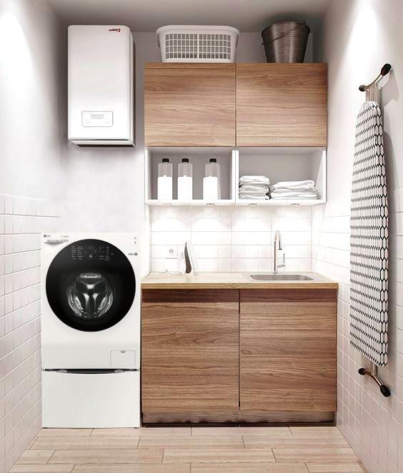 Thiết kế góc giặt sấy siêu tiện lợi cho nhà đông người - Ảnh 3.