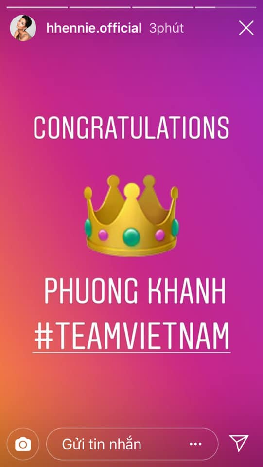 Bùi Phương Nga, HHen Niê, Hoàng Thùy cùng loạt sao Việt thể hiện sự tự hào khi Nguyễn Phương Khánh đăng quang Miss Earth 2018 - Ảnh 2.