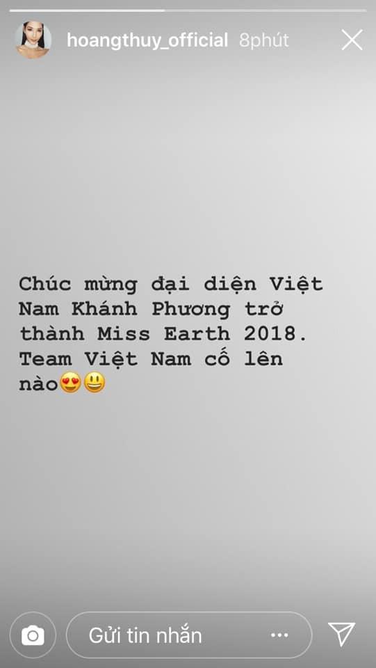 Bùi Phương Nga, HHen Niê, Hoàng Thùy cùng loạt sao Việt thể hiện sự tự hào khi Nguyễn Phương Khánh đăng quang Miss Earth 2018 - Ảnh 5.