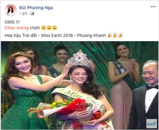 Bùi Phương Nga, HHen Niê, Hoàng Thùy cùng loạt sao Việt thể hiện sự tự hào khi Nguyễn Phương Khánh đăng quang Miss Earth 2018 - Ảnh 4.
