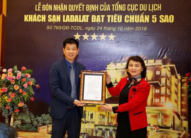 Công bố quyết định công nhận Khách sạn Ladalat đạt tiêu chuẩn 5 sao - Ảnh 1.