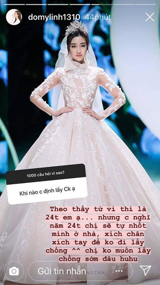 Hoa hậu Đỗ Mỹ Linh lần đầu tiết lộ về ý định lấy chồng - Ảnh 1.