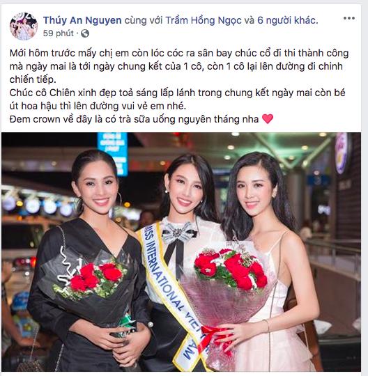 Hoa hậu Tiểu Vy bất ngờ quay clip đầy chững chạc để nói điều này với Nguyễn Thúc Thùy Tiên trước chung kết Miss International - Ảnh 5.