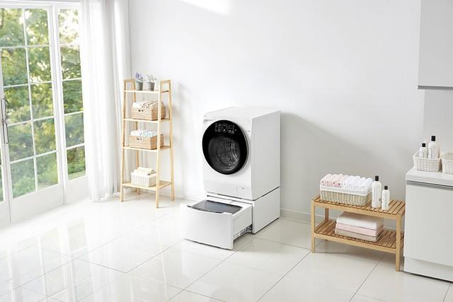 Mẹo thiết kế góc giặt tiện ích miễn chê cho căn hộ chung cư nhỏ - Ảnh 2.
