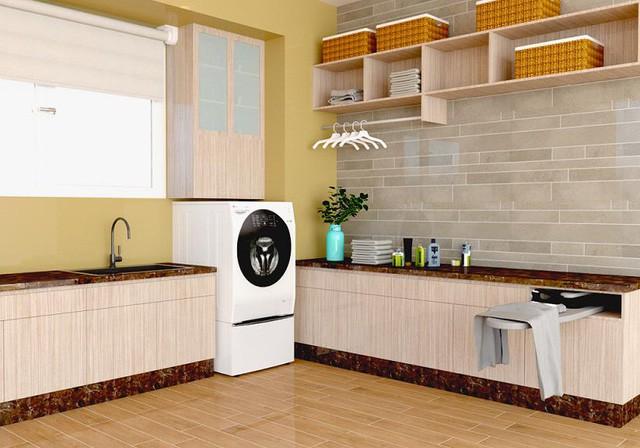 Mẹo thiết kế góc giặt tiện ích miễn chê cho căn hộ chung cư nhỏ - Ảnh 5.