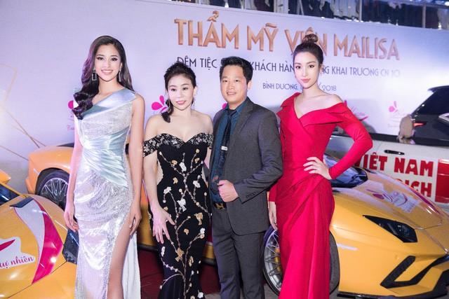 Hoa hậu Ngọc Hân, Mỹ Linh đồng loạt diện váy khoe trọn vai trần, nhưng nhìn sang Huyền My ai cũng choáng hơn cả! - Ảnh 3.