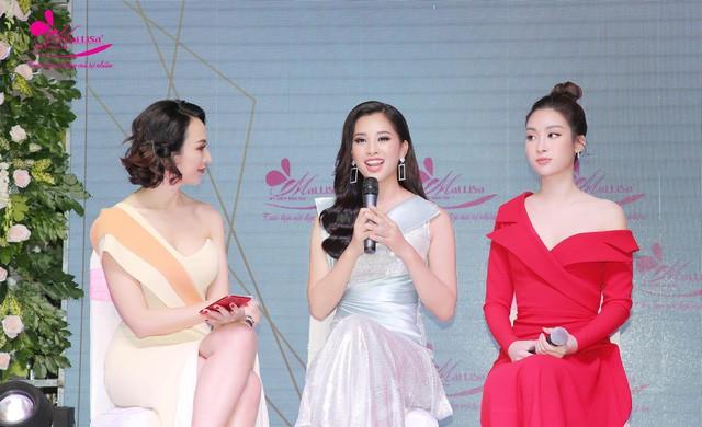 Hoa hậu Ngọc Hân, Mỹ Linh đồng loạt diện váy khoe trọn vai trần, nhưng nhìn sang Huyền My ai cũng choáng hơn cả! - Ảnh 5.