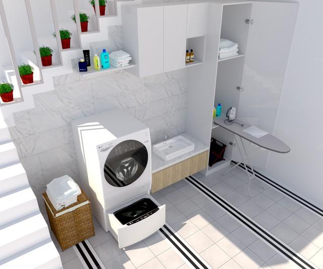 """""""Thổi hồn"""" phong cách cho phòng giặt đồ - Ảnh 2."""