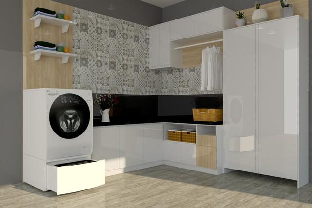 """""""Thổi hồn"""" phong cách cho phòng giặt đồ - Ảnh 3."""