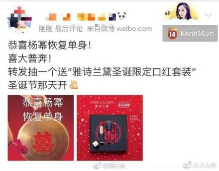Chuyện lạ: Dương Mịch – Lưu Khải Uy ly hôn, fan không hề khẩu chiến mà còn thi nhau tặng mỹ phẩm cao cấp ăn mừng - Ảnh 4.
