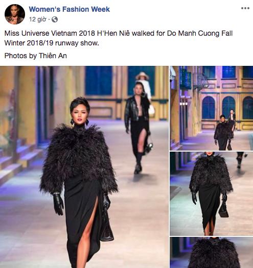 Thần thái catwalk tại show Đỗ Mạnh Cường quá đỉnh, netizen quốc tế khuyên HHen Niê nên thẳng tiến đến Paris Fashion Week - Ảnh 1.