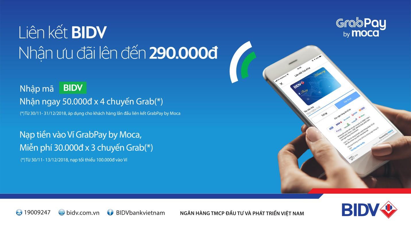Nhận ngay mã giảm 50.000 đồng cho khách hàng BIDV lần đầu dùng Grabpay by Moca - Ảnh 1.