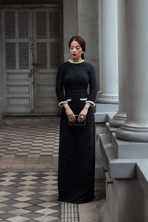 Tết này muốn nổi bần bật, hãy tậu ngay một chiếc áo dài đen như dàn sao Việt đình đám - Ảnh 11.