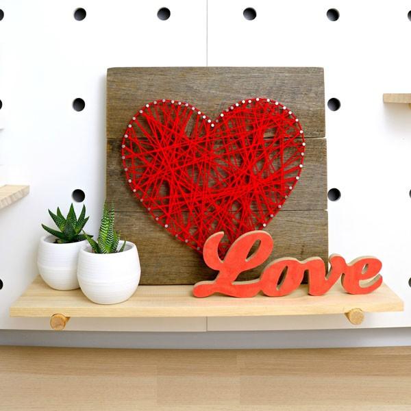 Trang trí nhà đẹp xinh với tranh len hình trái tim cực yêu - Ảnh 7.