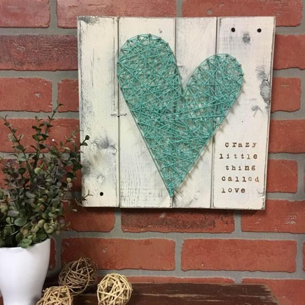 Trang trí nhà đẹp xinh với tranh len hình trái tim cực yêu - Ảnh 8.