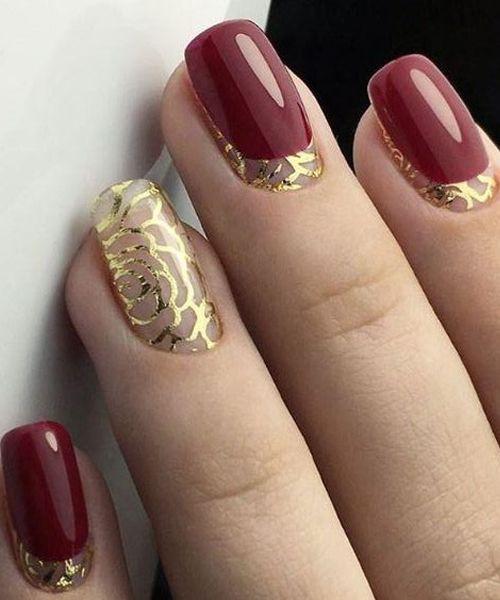 22 mẫu nail đỏ 'vừa đẹp vừa sang' cho nàng tỏa sáng trong dịp Tết Mậu Tuất 2018 - Ảnh 14.