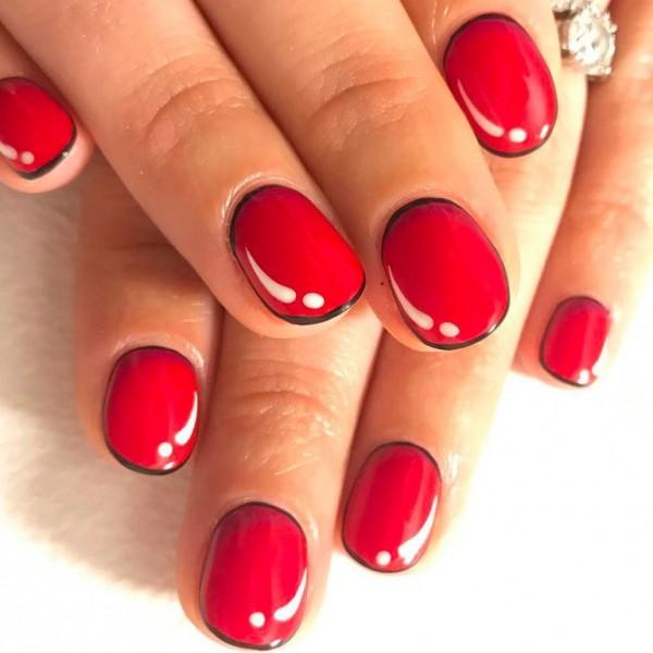 22 mẫu nail đỏ 'vừa đẹp vừa sang' cho nàng tỏa sáng trong dịp Tết Mậu Tuất 2018 - Ảnh 6.
