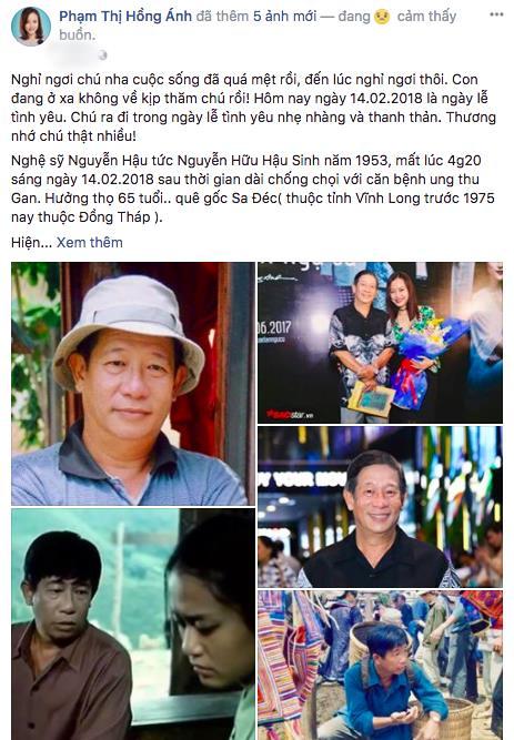 Nghệ sĩ Việt bàng hoàng, đau xót trước sự ra đi của diễn viên Nguyễn Hậu - ảnh 2