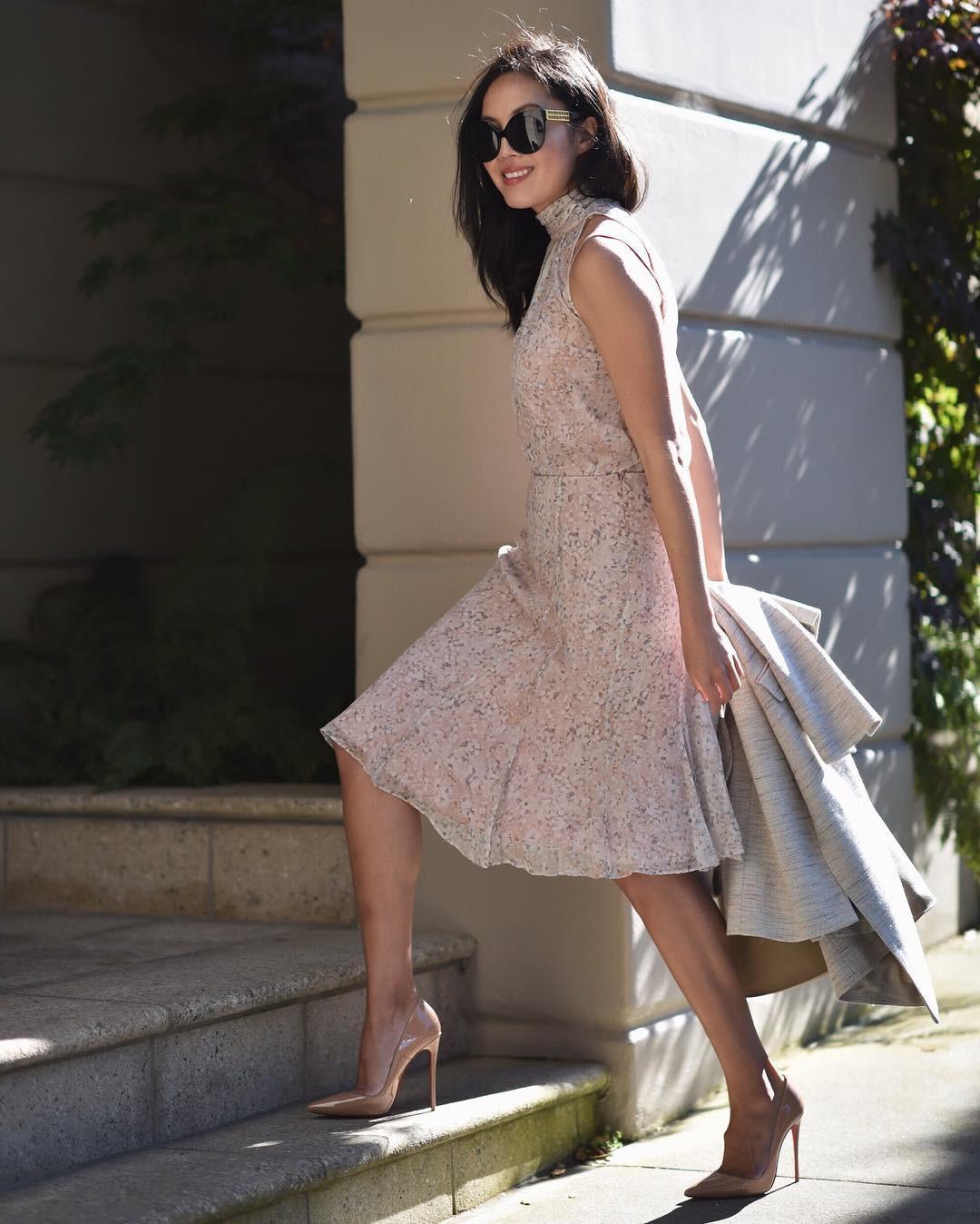 Những mẩu váy giúp bạn hồ biến thân hình bánh tét trở nên thon gọn