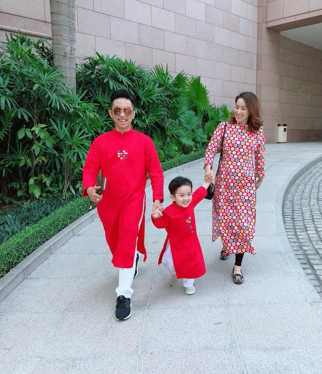 Chẳng riêng gì sao Việt, các nhóc tỳ nhà sao cũng xúng xính áo dài đón Xuân mới - Ảnh 5.