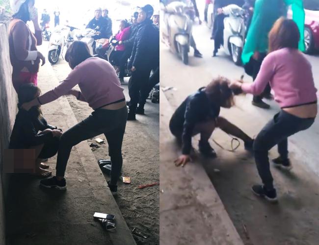 Cô gái trẻ bị lột quần, túm tóc đánh ghen sau khi lớn tiếng thách thức vợ của nhân tình ngay ngày mùng 4 Tết 1