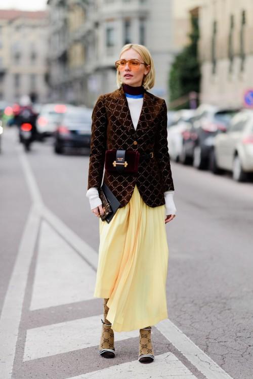 Street style đầy màu sắc của các tín đồ thời trang tại Milan Fashion Week Fall 2018 - Ảnh 14.