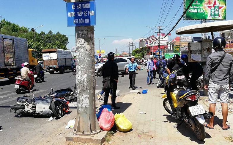 Đã có kết luận ban đầu vụ xe khách tông hàng loạt xe máy ở Bình Dương khiến nhiều người bị thương nặng