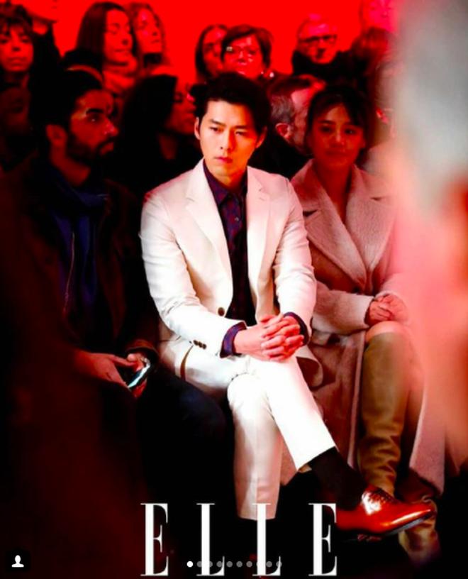 Hyun Bin thần thái ngút trời trên ghế đầu show thời trang tại Milan Fashion Week - Ảnh 1.