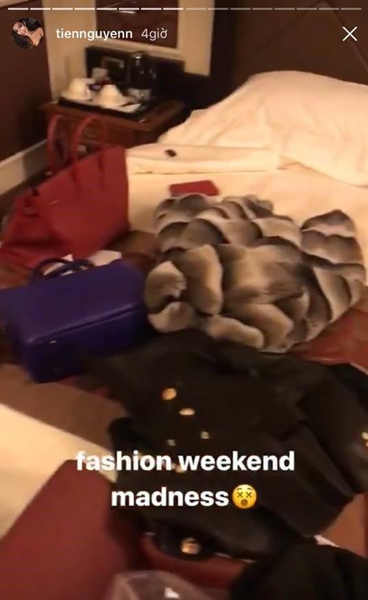 Thảo Tiên - em chồng Hà Tăng sang chảnh ở trời Âu dự show thời trang, mang theo cả núi đồ hiệu - Ảnh 6.
