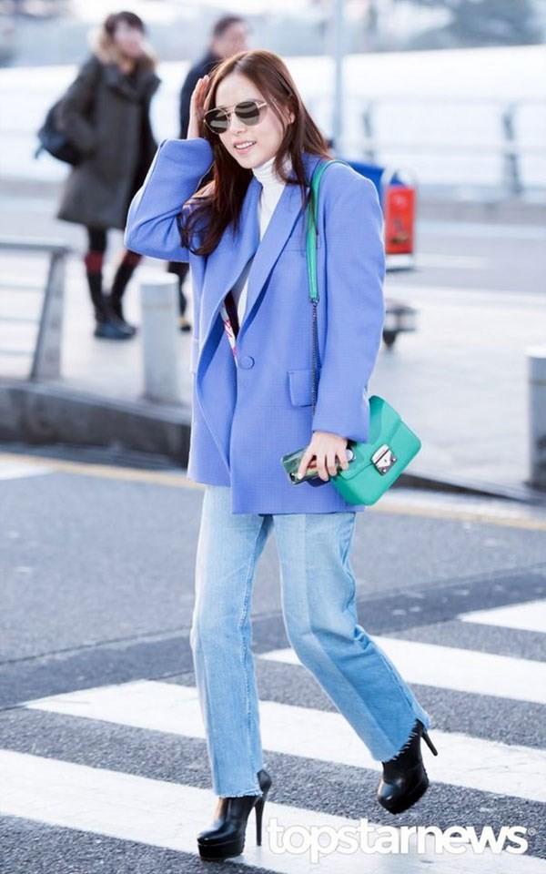 Bất kể xuân hạ thu đông, Min Hyo Rin cũng luôn trung thành với công thức mix đồ này - Ảnh 7.