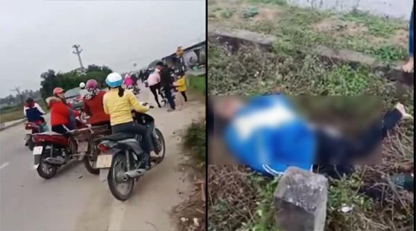 Hải Phòng: Xe bán tải hất văng 2 nữ sinh xuống ruộng tử vong tại chỗ, tài xế bỏ chạy - ảnh 1
