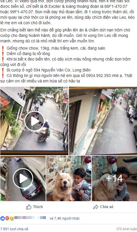 Clip: Phẫn nộ cảnh trộm chó táo tợn, kéo lê người phụ nữ ngã lăn ra đường ngay giữa phố Hà Nội - Ảnh 1.