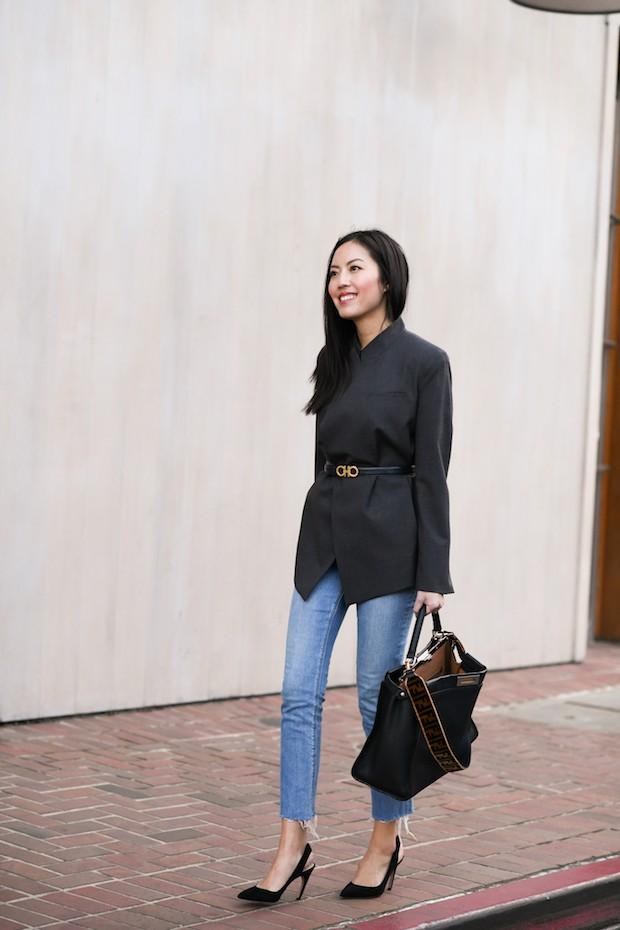 Tranh thủ trời mát mẻ, các quý cô Châu Á đồng loạt diện blazer xuống phố trong street style tuần này - Ảnh 6.