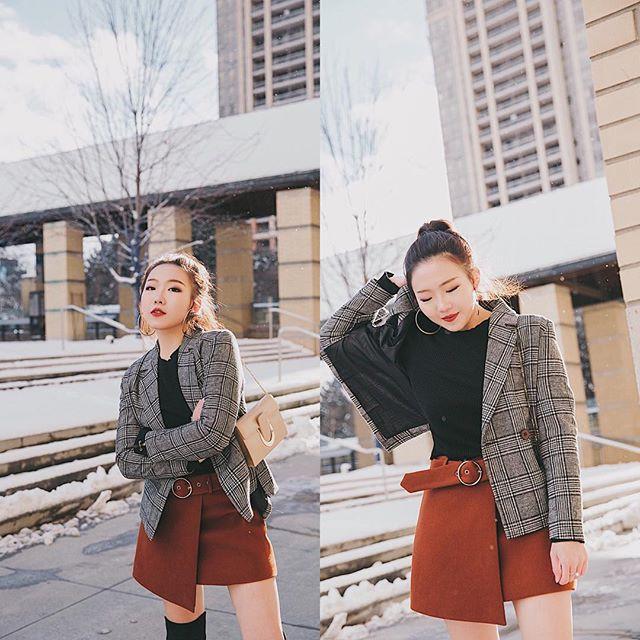 Tranh thủ trời mát mẻ, các quý cô Châu Á đồng loạt diện blazer xuống phố trong street style tuần này - Ảnh 15.