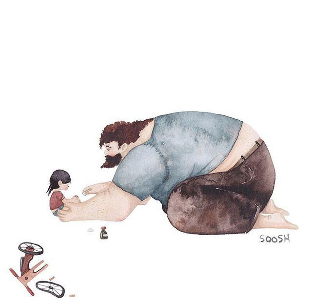Phần tiếp theo của bộ tranh Vì con gái nhỏ, cha sẽ làm tất cả từng khiến cư dân mạng rưng rưng - Ảnh 9.