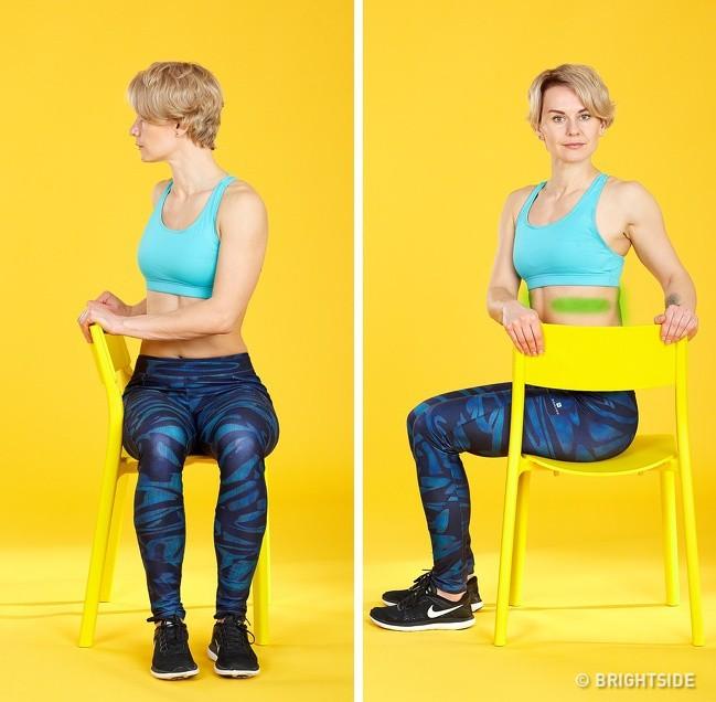 5 bài tập tại ghế văn phòng có tác dụng giảm đau lưng không kém massage mà chị em nào cũng thích - Ảnh 4.