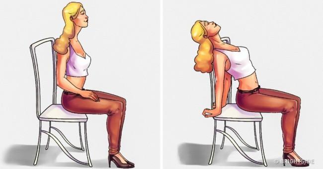 5 bài tập tại ghế văn phòng có tác dụng giảm đau lưng không kém massage mà chị em nào cũng thích - Ảnh 1.