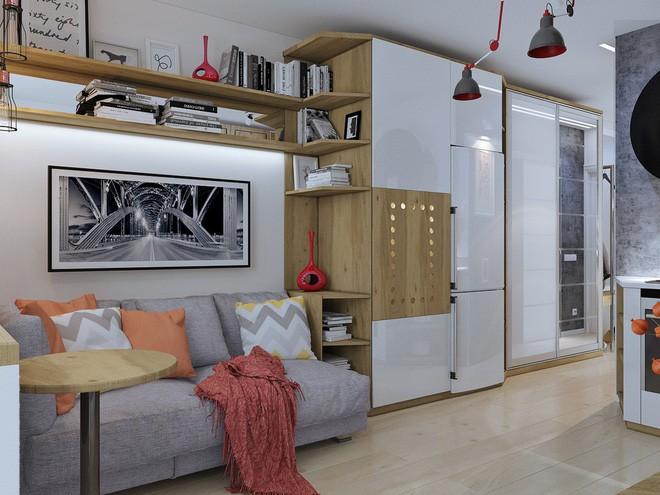 Không gian sống lý tưởng trong hai căn hộ có diện tích chưa đến 20m² - Ảnh 1.