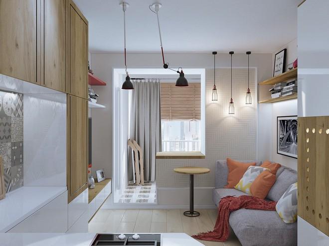 Không gian sống lý tưởng trong hai căn hộ có diện tích chưa đến 20m² - Ảnh 2.