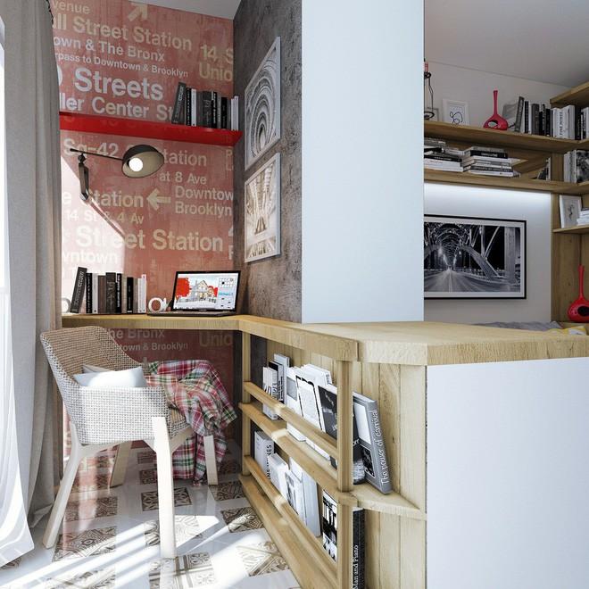Không gian sống lý tưởng trong hai căn hộ có diện tích chưa đến 20m² - Ảnh 3.