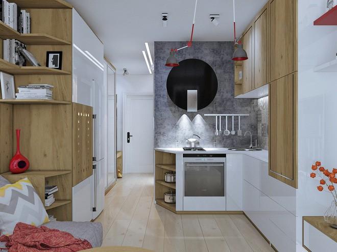 Không gian sống lý tưởng trong hai căn hộ có diện tích chưa đến 20m² - Ảnh 5.