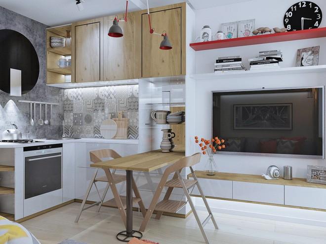 Không gian sống lý tưởng trong hai căn hộ có diện tích chưa đến 20m² - Ảnh 6.