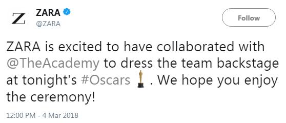 Ngạc nhiên chưa: Giữa đại tiệc thời trang xa xỉ của Oscar 2018, có tới 150 người diện đồ của thương hiệu Zara - Ảnh 3.