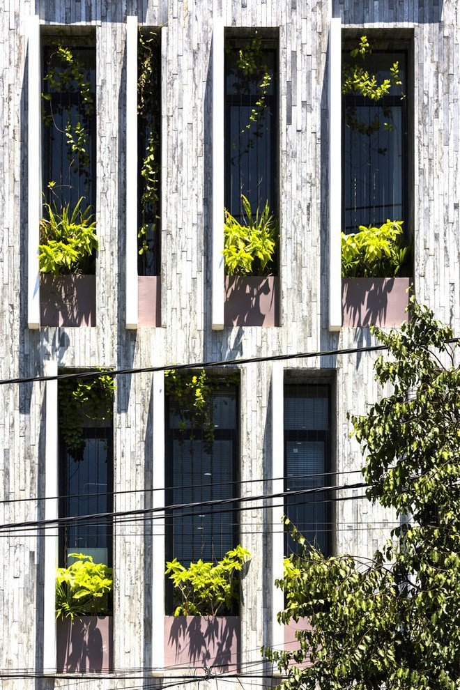 Ngôi nhà sâu 35m với khu vườn trên sân thượng đẹp muốn hờn ở Đà Nẵng - Ảnh 4.