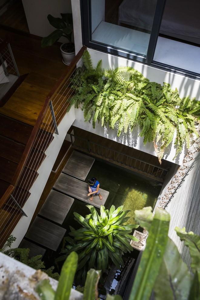 Ngôi nhà sâu 35m với khu vườn trên sân thượng đẹp muốn hờn ở Đà Nẵng - Ảnh 10.