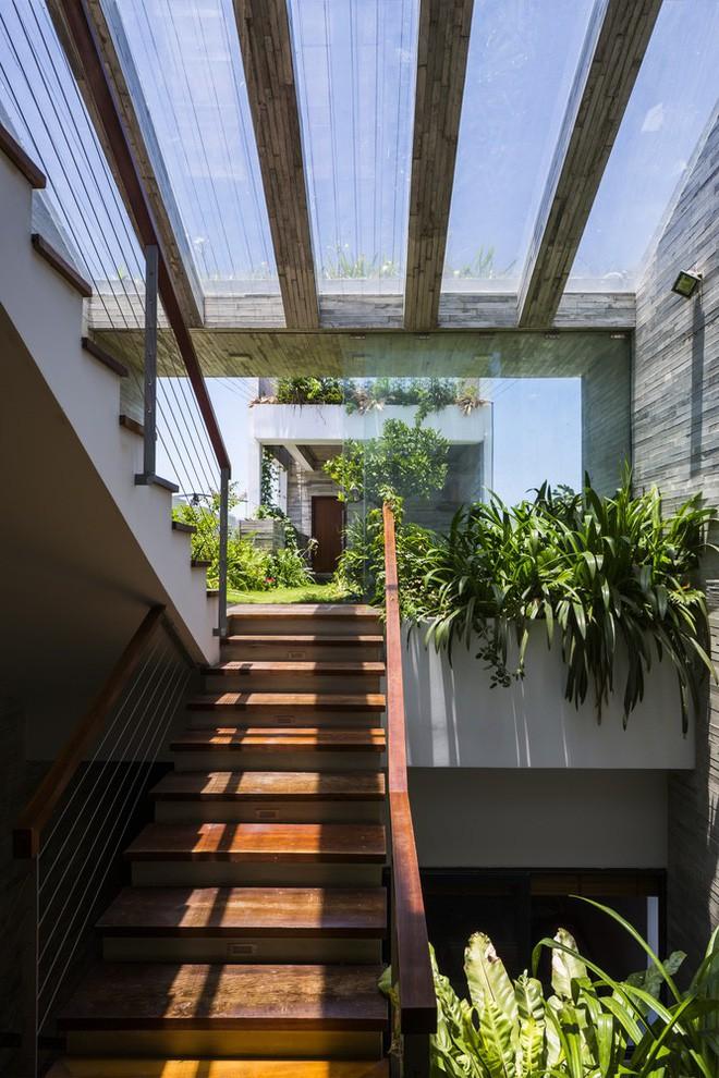 Ngôi nhà sâu 35m với khu vườn trên sân thượng đẹp muốn hờn ở Đà Nẵng - Ảnh 8.