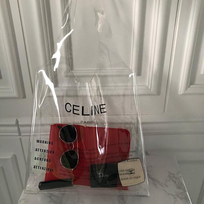 Trông hệt như túi nilon đi chợ nhưng túi nhựa trong có giá hơn 20 triệu của Celine đang được các tín đồ thời trang thích điên cuồng - Ảnh 4.