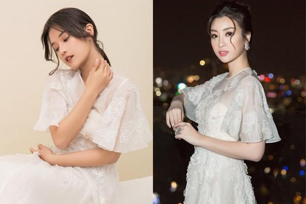 Hoàng Yến Chibi thấp hơn HH Đỗ Mỹ Linh hẳn chục centimet, nhưng khi diện chiếc đầm trắng này thì khó lòng chọn ra ai đẹp hơn - Ảnh 9.