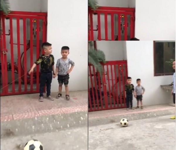 Clip: Ông bố nhổ răng bá đạo cho con trai bằng quả bóng khiến cư dân mạng phì cười - Ảnh 3.